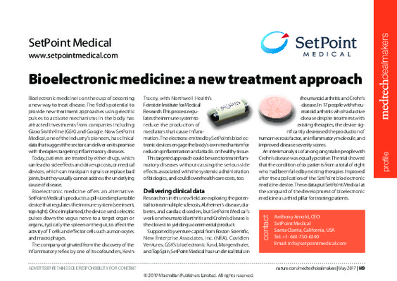 Bioelectronic medicine: a new treatment approach